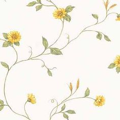 wallpaperconnection: SUNFLOWER VINE WALLPAPER