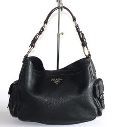 435e954433ad3 Prada Diano Black Leather Medium Hobo Bag