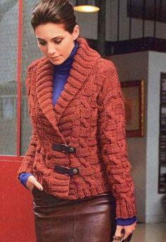 Жакет с рельефным узором - Жакеты,полуверы, свитера