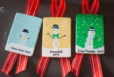 Christmas fingerprint craft....cute ornament idea