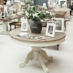 **£165 DISCOUNT - TODAY ONLY**  Stanley Round Extendable Table – Allissias Attic & Vintage French Style