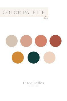 One of my new favorite color palettes. It's very versatile and feels cozy and luxurious. The perfect home color palette, branding color palette, design inspiration. Farmhouse neutral color palette, Three Hellos Creative Co. Design Patio, Web Design, Design Color, Creative Design, Logo Design, Portfolio Webdesign, Palette Design, Neutral Wedding Colors, Farm House Colors