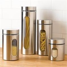 Stainless Steel Clear-View Canister Set