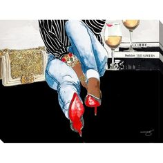 """Shop for BY Jodi """"Waiting on you Giclee Stretched Canvas Wall Art. Get free delivery On EVERYTHING* Overstock - Your Online Art Gallery Store! Get in rewards with Club O! Lone Tree, Art Sur Toile, Canvas Wall Art, Canvas Prints, Diy Canvas, Black Artwork, Black Girl Art, African American Art, Reproduction"""