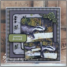 Crafting with Cotnob: Pollyanna Pickering British Wildlife Vol III Create And Craft Tv, Fox Collection, British Wildlife, Printable Designs, Masculine Cards, You Are Awesome, Print And Cut, Wild Animals, Handmade Cards