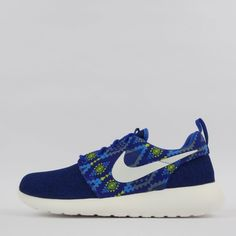 Nike Roshe Run One Print Men's Casual Trainers Shoes Sneakers, Royal Blue #Nike #Trainers