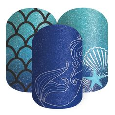 Sapphire Sea | Jamberry Ariel, the Little Mermaid inspired #Disney Collection by #Jamberry premium nail wraps