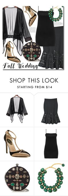 """Fall Wedding - Best Dressed Guest (plus size)"" by beebeely-look ❤ liked on Polyvore featuring Exelle, Alexander McQueen, Dominique Denaive, lace, plussize, fallwedding, Seethru and twinkledeals"