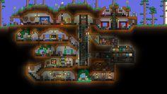 Terraria House Design, Terraria House Ideas, Build A Terrarium, Small Terrarium, Terrarium Ideas, Minecraft Underground, Underground Homes, Minecraft Plans, Minecraft Houses