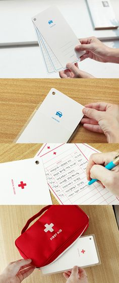 Managing medical records and car records is very important. Put the card in the included PVC pocket and keep track of important records!