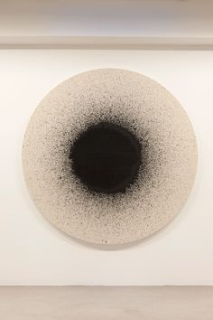 blue-voids:  Latifa Echakhch - Drum, 2012 - black india ink on canvas