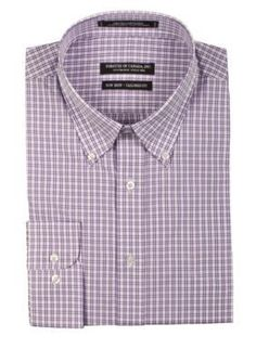 Forsyth of Canada Iris Tailored-Fit Grid Checker Board Long Sleeve Dress Shirt