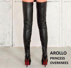 High Heel Leder Stiletto Overknee Stiefel, High Heels und Crotch Boots online kaufen - Ihr Online Store -Arollo Overknee Stiefel - CROTCH BOOTS Online Shop