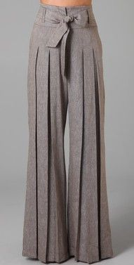 I kinda have a love-hate with these pants. Part of me thinks they're awesome and unique and loves the wide leg. The other part cringes with the thought of ironing them...