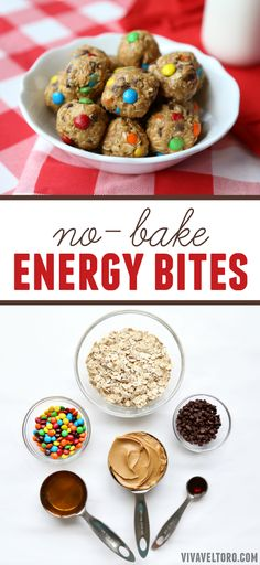 These no bake energy bites are so easy and you can add almost anything that your kids would like.