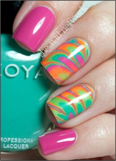 Zoya Beach Collection water marbling - GROOVY!