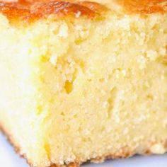 Moist Sweet Cornbread Recipe - If you didn't like cornbread before, you will now. Moist and delicious and sweet, almost like cake. Tried this recipe and it's the BEST cornbread I've ever had! I can't stop Eating it! Dessert Recipes, Desserts, Cupcakes, Sweet Bread, Snack, Sans Gluten, Food Dishes, Love Food, Food To Make