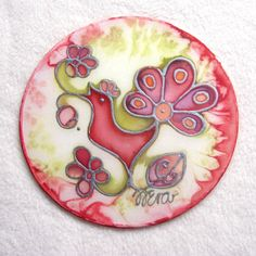 Silk Window Ornament The bird singing  a love song  by HEraMade, $20.00