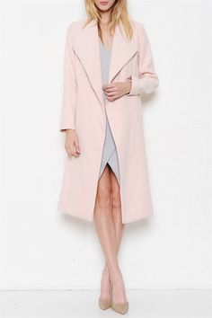 It's a Blogger World Coat - Blush – Daily Chic