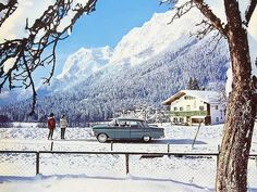 Snow captain 1964 calendar, 1959-1964 Opel Kapitän As many of you know by now, I have a bias towards this Opel Kapitän, because my Dad drove two of them. But never in winter to such beautiful locations.