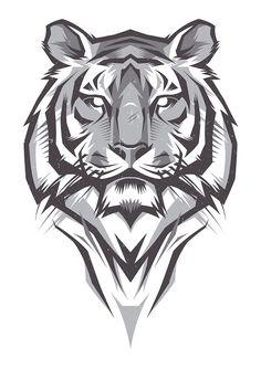 tiger design Century is part of - Shulyak Brothers tiger illustrations Más Tiger Design, Tiger Tattoo Design, Tattoo Designs, Tattoo Ideas, Tatoo Dog, Lion Tattoo, Tiger Head Tattoo, Tiger Drawing, Tiger Art