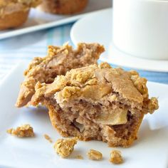 Apple Cinnamon Muffins with Oatmeal Crumble Streusel Recipe on Yummly