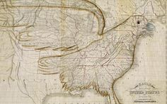 The Eagle Map of the United States by Joseph Churchman (1833)