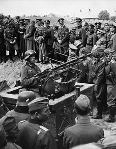 Hitler visiting the German army troops in Jaroslaw (Western Galicia) - 19.09.1939.