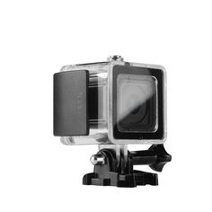 Lightwish 45M (150 Feet/50 Yard) Underwater Diving Waterproof Housing Protective Case Accessory Kit With Bracket For GoPro Hero4 session (Black)