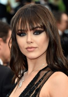Kristina Bazan Long Wavy Cut with Bangs - Kristina Bazan attended the Cannes premiere of 'Money Monster' wearing a long wavy 'do with wispy bangs.