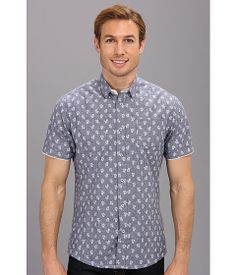 Dot and floral print chambray shirt from Descendant Of Thieves