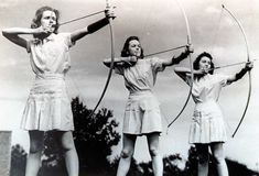 archery | Ladies take aim in the 1940s (ODU photo)