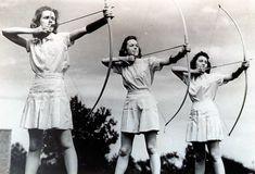 archery | Ladies take aim in the 1940s (ODU photo)