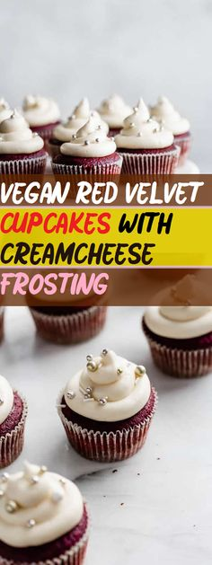 Classic cupcakes made vegan & healthy. Perfect for special treats! This vegan red velvet cupcake with cream cheese frosting is perfect for a. Vegan Red Velvet Cupcakes, Vegan Cupcakes, Mocha Cupcakes, Gourmet Cupcakes, Strawberry Cupcakes, Easter Cupcakes, Flower Cupcakes, Christmas Cupcakes, Vanilla Cupcakes