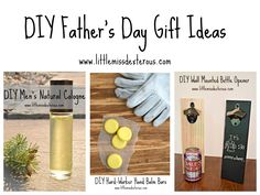 Make these creative, thoughtful, EASY DIY Father's Day Gifts! Great gifts for dad's who already have EVERYTHING! Personalize them to make them special! Diy Father's Day Gifts, Father's Day Diy, Great Gifts For Dad, Gifts For Father, All Natural Cleaners, Wall Mounted Bottle Opener, Young Living Essential Oils, Homemade Gifts, The Balm