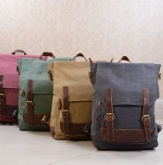 EAZO Canvas College Book Backpack