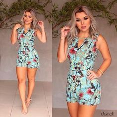 Nosso Macaquinho Fresh {print exclusivo} é lindo demais! E tá pronto pra te deixar maravilhosa nessa sexta! ✨ #AmoDonali Fashion Line, Girl Fashion, Fashion Dresses, Womens Fashion, Sexy Outfits, Summer Outfits, Glamour Fashion, Women's Fashion Leggings, Shorty