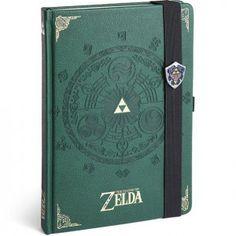 Voici un super carnet de note relié Legend of Zelda Triforce qui peut te servir de journal intime.