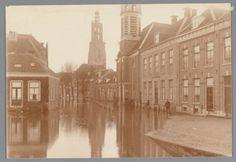 Overstroming van de Langegracht bij het Havik, tijdens de watersnood van 1916.