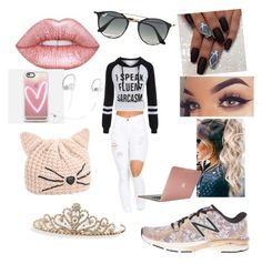 """Dressed up?..... No!"" by jensunicorn on Polyvore featuring New Balance, Ray-Ban, Incase, Casetify, Beats by Dr. Dre, Karl Lagerfeld and BillyTheTree"