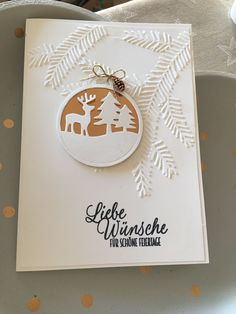 """""""Do I have a circle punch? Christmas Cards 2017, Homemade Christmas Cards, Stampin Up Christmas, Christmas Projects, Handmade Christmas, Holiday Cards, Christmas Holidays, Christmas Deco, Homemade Cards"""