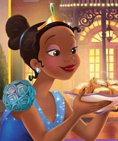 *TIANA ~ The Princess and the Frog, Artwork of Tiana on the cover of The Grand Opening . Princesa Tiana Disney, Disney Princess Tiana, Frog Princess, Princesas Disney, Disney Nerd, Disney Girls, Disney Love, Disney Magic, Tiana And Naveen