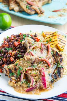Cuban Mojo Grilled Pork Chops