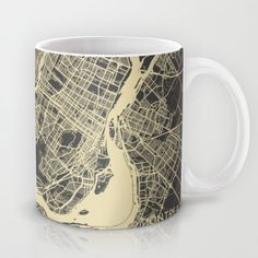 Montreal Map Mug by Map Map Maps - $15.00---------------------------If you like my work, you can folllow my Facebook account : https://www.facebook.com/MapMapMaps