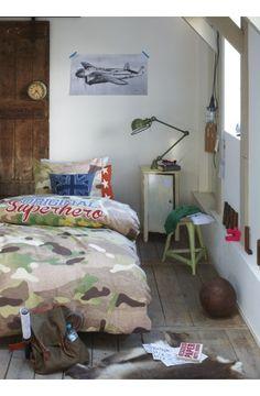 Maak een stoere kinderkamer voor jouw 'super hero'! Camouflage dekbed overtrek. € 39,95