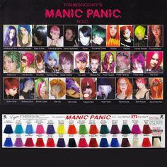"""マニックパニック / MANIC PANIC color chart [colorings] """"hair color sample / マニックパニックヘアカラー"""""""