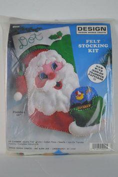 #Design #Works #Crafts #5022 #Santa #and #Globe #Felt #Stocking #Kit #DesignWorksCrafts