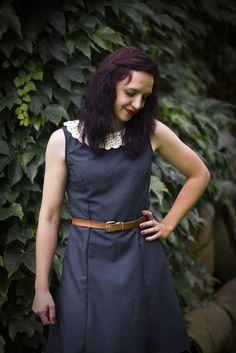 DIY | Kleid mit Häkelkragen | selber nähen | Bernina Schnittmuster