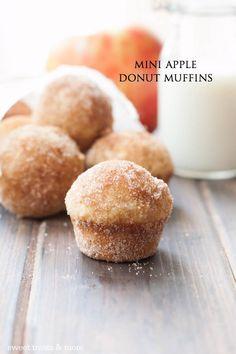 Mini Apple Donut Muffins Sweet Treats and Muffin Recipes, Apple Recipes, Fall Recipes, Sweet Recipes, Donut Muffins, Breakfast Muffins, Mini Muffins, Fall Breakfast, Breakfast Potatoes
