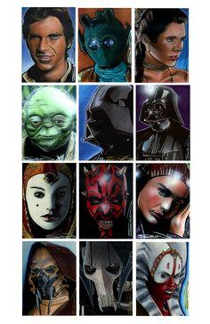 Star Wars Sketch Cards 2 by RandySiplon on DeviantArt